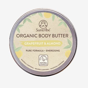 Organic Body Butter, Grapefruit & Almond 150 ml